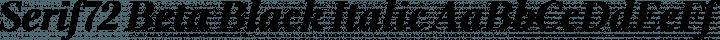 Serif72 Beta Black Italic free font