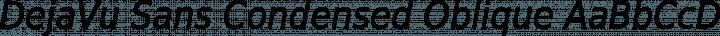 DejaVu Sans Condensed Oblique free font