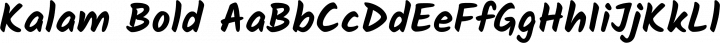 Kalam Bold free font