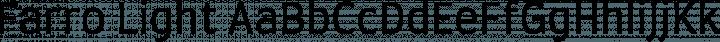 Farro Light free font