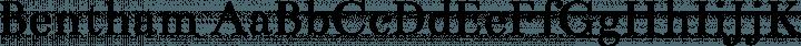 Bentham Regular free font