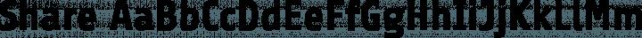 Share font family by Carrois Type Design / Ralph du Carrois