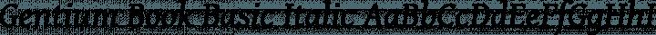 Gentium Book Basic Italic free font