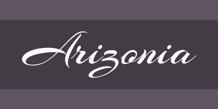 Arizonia Font Free By TypeSETit Squirrel