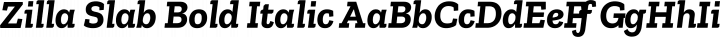 Zilla Slab Bold Italic free font