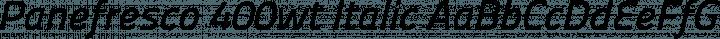 Panefresco 400wt Italic free font