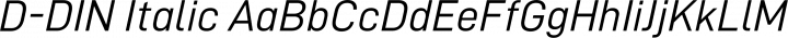 D-DIN Italic free font
