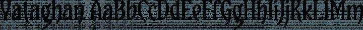 Yataghan Regular free font