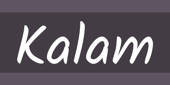 Kalam Font Free by Indian Type Foundry » Font Squirrel