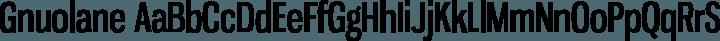 Gnuolane Regular free font