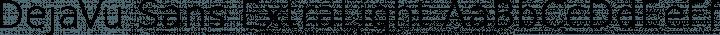 DejaVu Sans ExtraLight free font