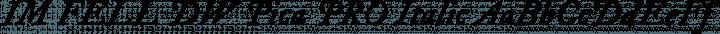 IM FELL DW Pica PRO Italic free font