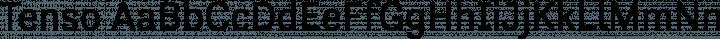 Tenso Regular free font