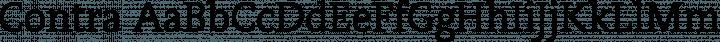 Contra Regular free font