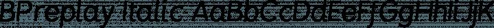 BPreplay Italic free font