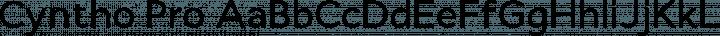Cyntho Pro Regular free font