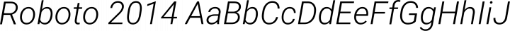 Roboto 2014 font family by Christian Robertson