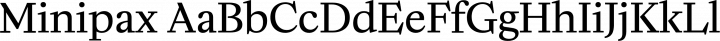 Minipax Regular free font