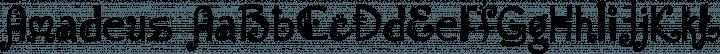 Amadeus Regular free font
