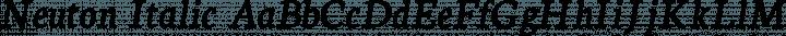 Neuton Italic free font