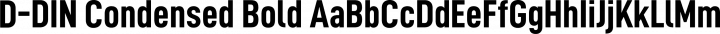 D-DIN Condensed Bold free font