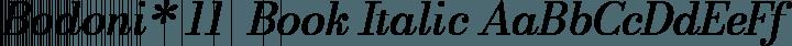 Bodoni* 11  Book Italic free font