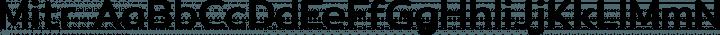 Mitr Regular free font