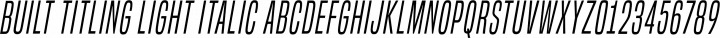 Built Titling Light Italic free font