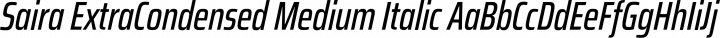 Saira ExtraCondensed Medium Italic free font