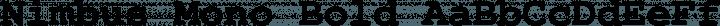 Nimbus Mono Bold free font
