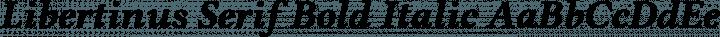Libertinus Serif Bold Italic free font