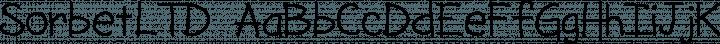 SorbetLTD font family by Adriprints