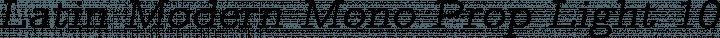 Latin Modern Mono Prop Light 10 Oblique free font