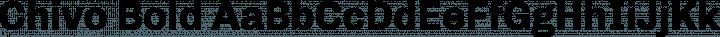 Chivo Bold free font