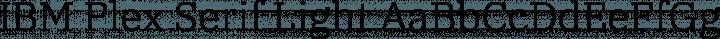 IBM Plex Serif Light free font