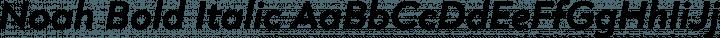 Noah Bold Italic free font