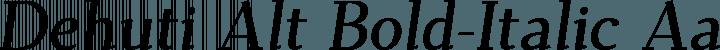 Dehuti Alt Bold-Italic free font