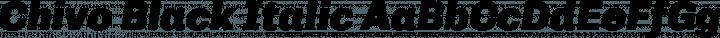 Chivo Black Italic free font