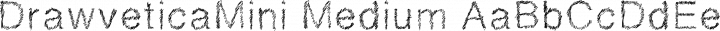 DrawveticaMini Medium free font