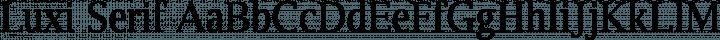 Luxi Serif Regular free font