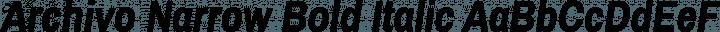 Archivo Narrow Bold Italic free font