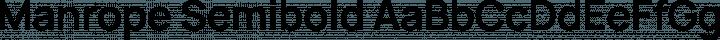 Manrope Semibold free font