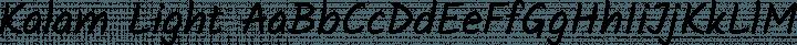 Kalam Light Regular free font