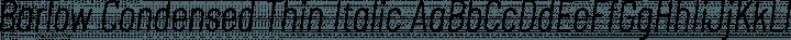 Barlow Condensed Thin Italic free font