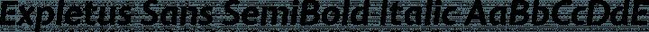 Expletus Sans SemiBold Italic free font