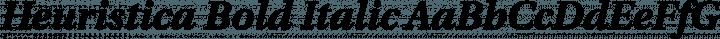 Heuristica Bold Italic free font