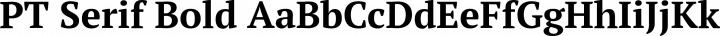 PT Serif Bold free font