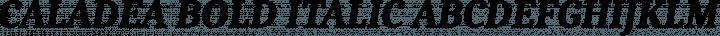 Caladea Bold Italic free font