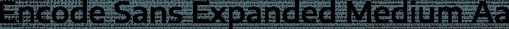 Encode Sans Expanded Medium free font
