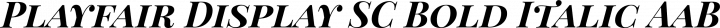 Playfair Display SC Bold Italic free font